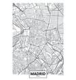 detailed poster city map madrid vector image