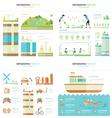Eco Infographic 4 in 1 vector image