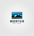 film tape logo landscape mountain design vector image