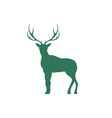 Flat deer icon vector image vector image