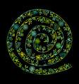 floral spiral background sketch for your design vector image