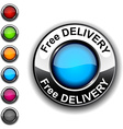 Free delivery button vector image vector image