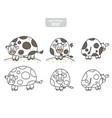 funny cow on the meadow vector image