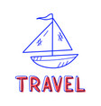 hand draw boat icon in doodle style for your vector image