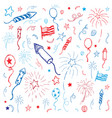 hand drawn american fourth of july design vector image