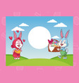 happy easter cartoons vector image