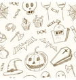 Happy Halloween seamless pattern Trick or Treat vector image vector image