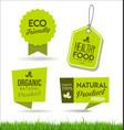 healthy natural food labels organic tags 3 vector image vector image