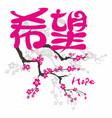 hope gospel in japanese kanji vector image vector image