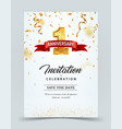 invitation card template to the day of the 1 vector image