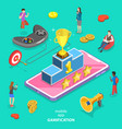 isometric flat concept interactive vector image vector image