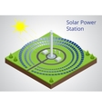 isometric of a solar power vector image vector image