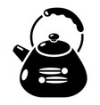kettle metal icon simple black style vector image