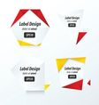 LABEL DESIGN Origami styles vector image vector image