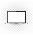 laptop with white screen flat icon computer on vector image vector image