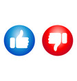 like and dislike icon for your sites and apps vector image vector image