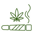 marijuana joint spliff smoking drug cigarette vector image