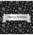 merry christmas with silver winter snowflakes vector image vector image