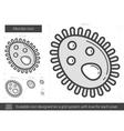 Microbe line icon vector image vector image