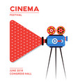 movie cinema poster design vector image vector image
