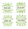 nature ecology labels set vector image