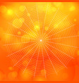 orange blurred bokeh halloween background with vector image