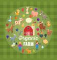 organic farm concept vector image vector image