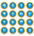 palm tree icons blue circle set vector image vector image