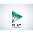Play button logo business branding icon vector image