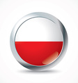 Poland flag button vector image vector image
