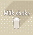 poster in flat style with glass of milk shake vector image