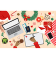 Preparing for holiday travel on chistmas vector image vector image