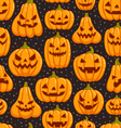 Pumpkins pattern vector image