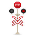 railroad crossing 01 vector image