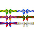 ribbons set with bow vector image vector image