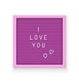 rose letter board vector image vector image