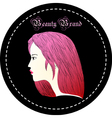 Rose red hair woman vector image