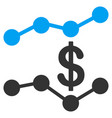 sales trends flat icon vector image