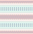 seamless ethnic tribal pattern horizontal pastel vector image