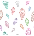 Seamless pattern Ice cream vector image