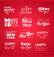 seasons greetings big set of logos vector image