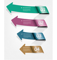Set of info graphics banners with numbers vector image