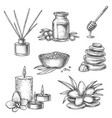 sketch thai spa massage aromatherapy and wellness vector image