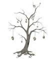 skull tree vector image vector image