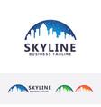 skyline logo vector image