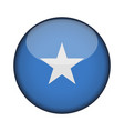 somalia flag in glossy round button of icon vector image