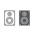 sound speaker line and glyph icon electronic vector image vector image