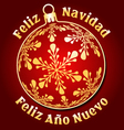 Spanish Merry Christmas and New Year background