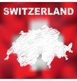 Swiss Abstract Map vector image vector image