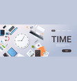 time management deadline business timing concept vector image